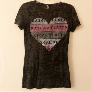 Rascal Flats Heathered Band Tee Size Large